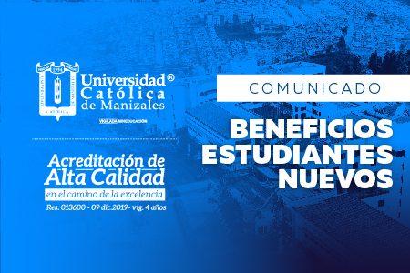 Comunicado: beneficios para los estudiantes nuevos 2020-II