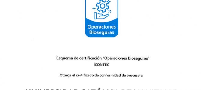 ¡Nos Certificamos en Operaciones Bioseguras!
