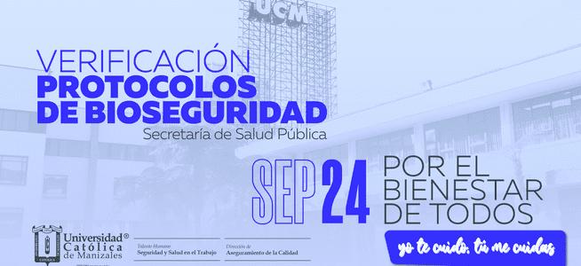 Viernes 24 de septiembre, UCM tendrá visita de verificación de protocolos de bioseguridad